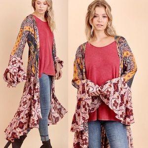 🦋Floral Print Duster Kimono BOHO 🦋